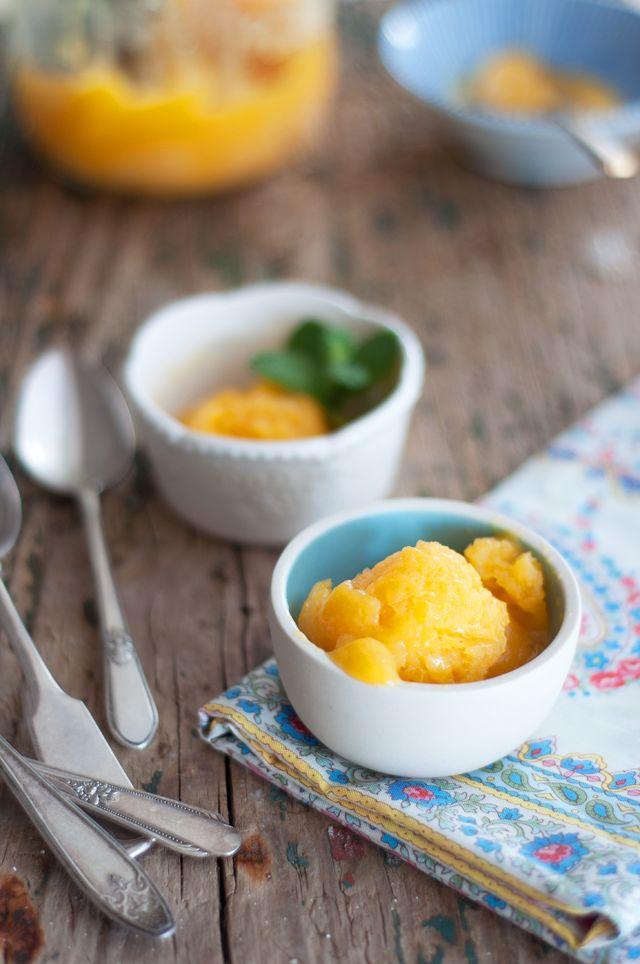 Peach Mango & Citrus Sorbet {sans an ice cream maker} via Marshalls ...