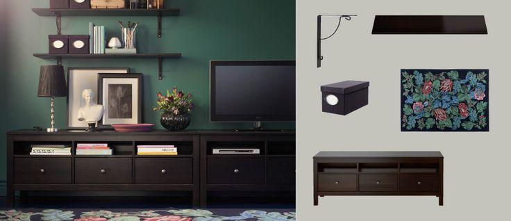 Entertainment Tv Stand Ikea Hemnes ~ IKEA Hemnes TV media storage suggestion  TV stand is 72 wide