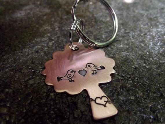 Tree Love  keychain by patsdesign on Etsy, $15.00