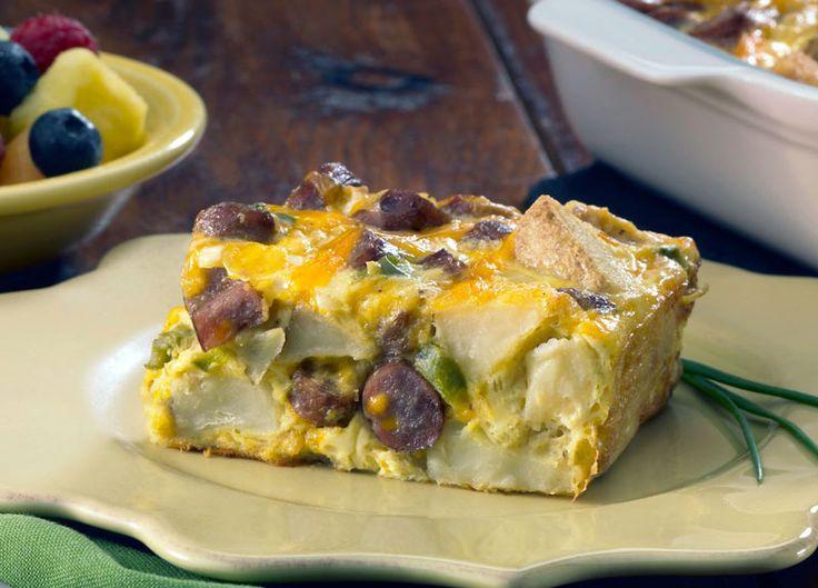 Cheesy Sausage & Potato Breakfast Casserole - Johnsonville.com