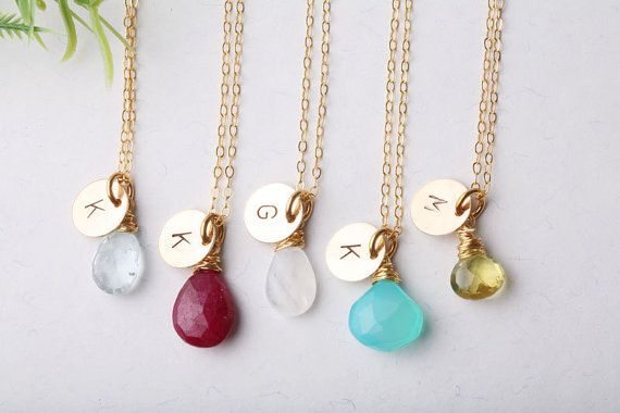 cute gifts - 6 personalized necklaces for $190