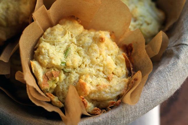 Cheddar and Leek Muffins - Thanksgiving Weekend Treat