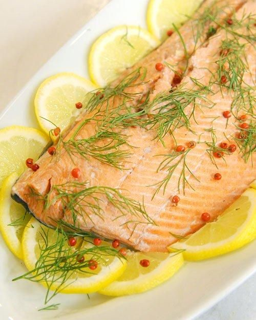 Cold-Poached Salmon with Cucumber Salad | Recipe