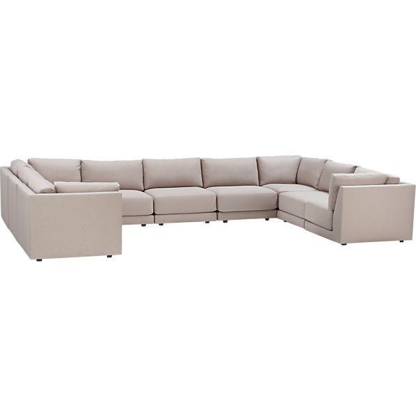 moda 9 piece sectional sofa