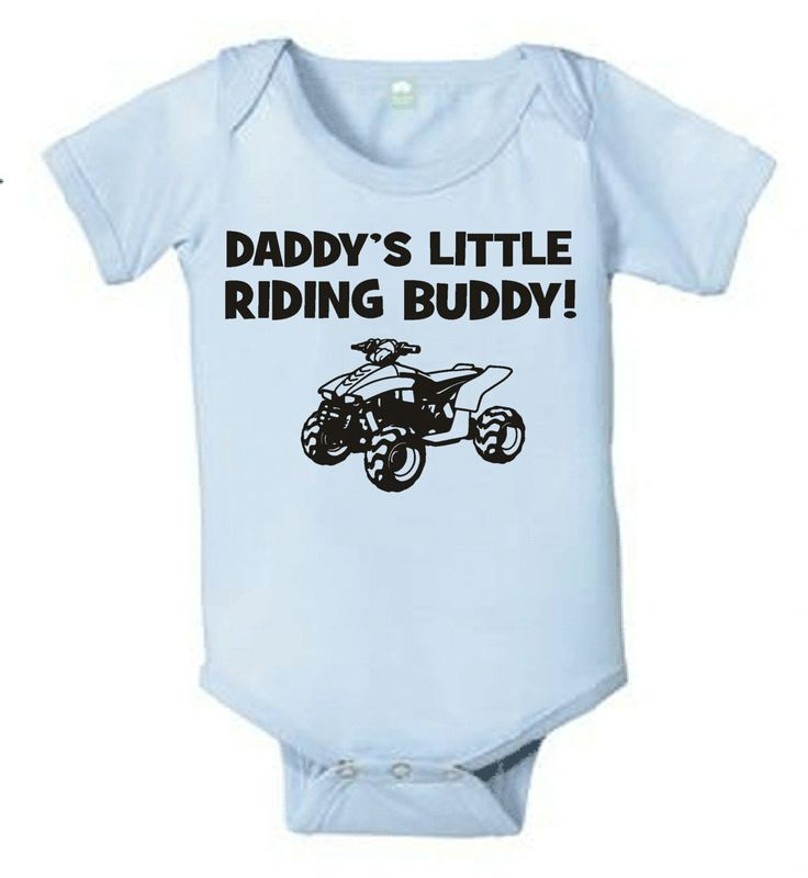 Daddy's little riding buddy atv 4 wheeler quad by KIDSROCKCLOTHING, $9 ...