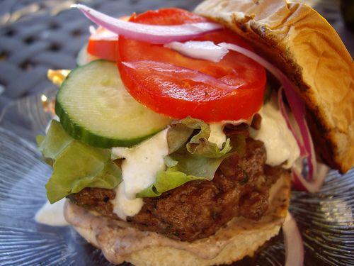 Greek Lamb Burgers   Columbus Foodie: Visual Recipe Index   Pinterest
