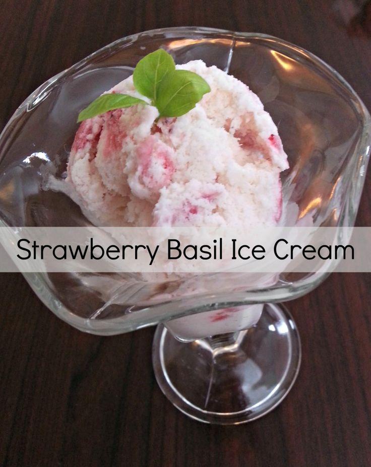 cream strawberry basil ice cream fresh basil pesto fresh basil ...