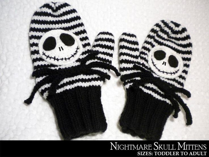 Nightmare Before Christmas Mittens! | My own designs... | Pinterest