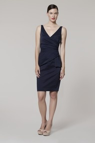 Side Bow Taffeta Dress - Cocktail at Maggy London