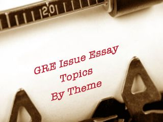 Common gre essay prompts