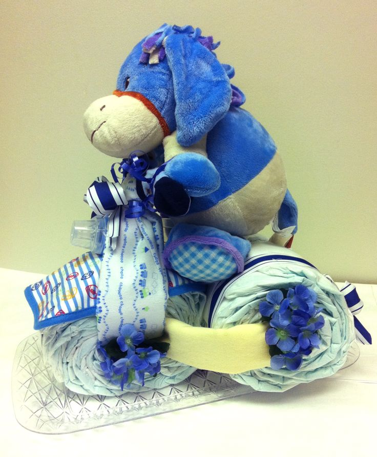Baby gift tricycle diaper cake diy pinterest