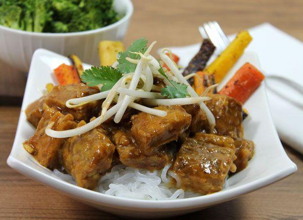 Orange Glazed Tempeh Recipe | Asian food | Pinterest