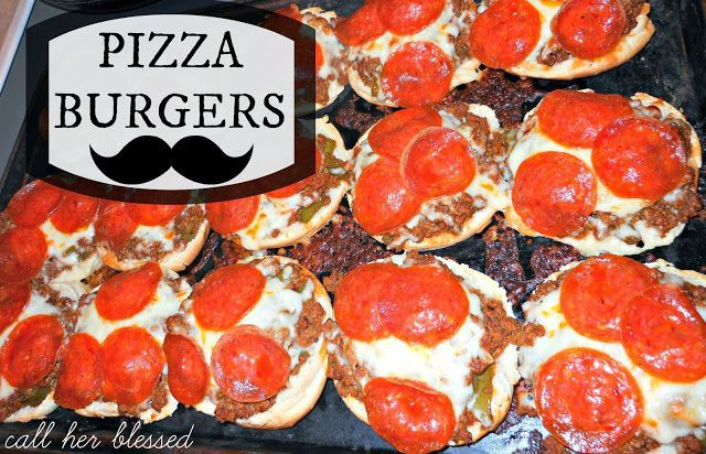PIZZA BURGERS! quick, easy, fun. | Food Lovers | Pinterest