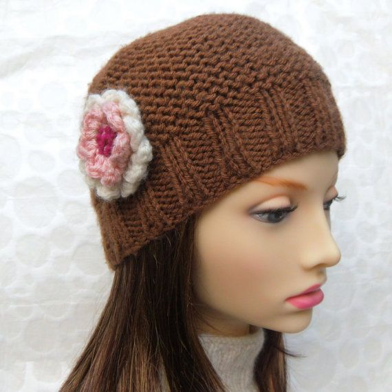 Knitting Pattern Womens Hat : KNITTING PATTERN for BELLE Beanie Style Hat for Women and ...