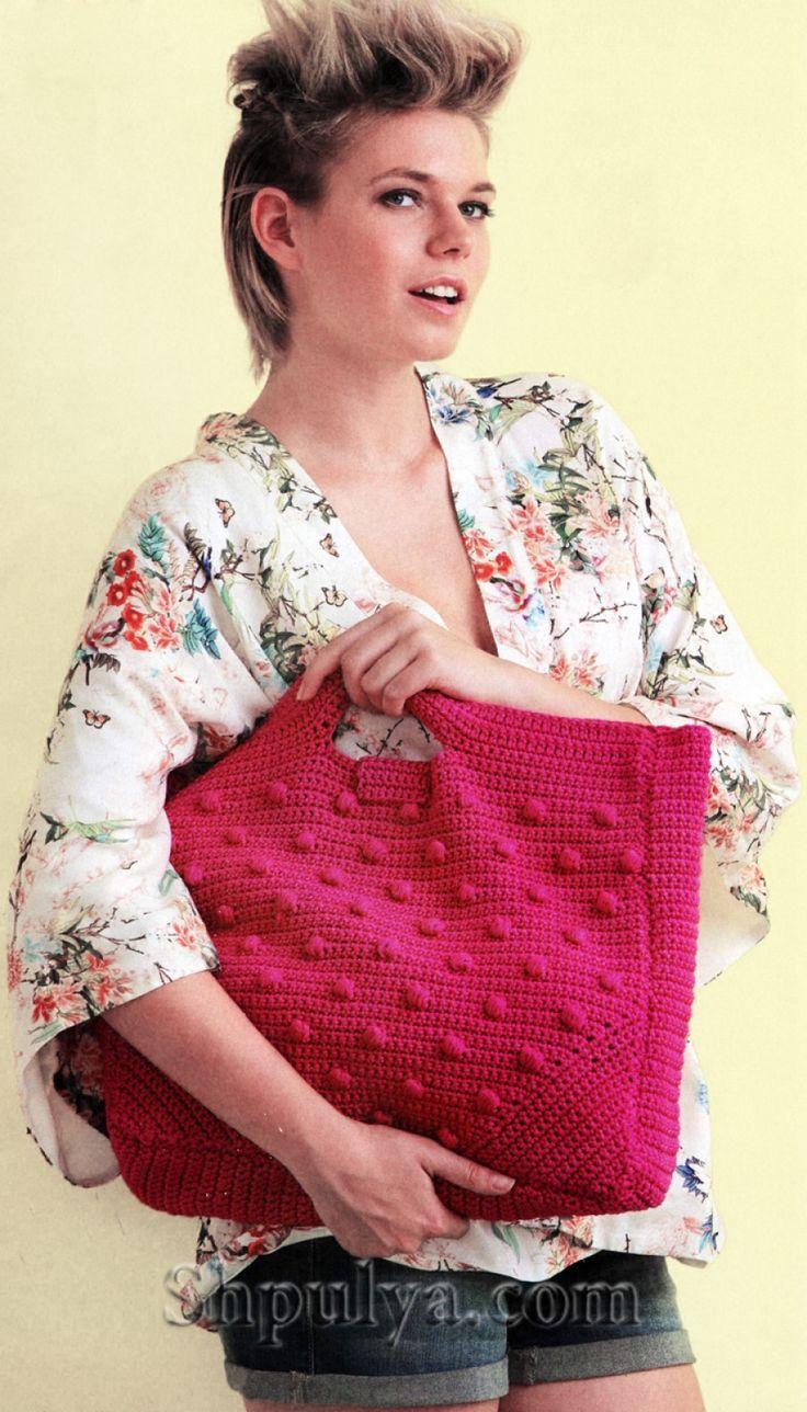 Вяжем сумки крючок модное вязание ниола 16