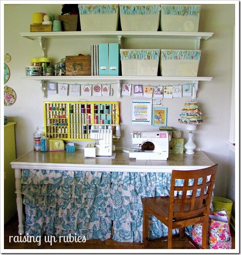 Table Oh How Nice Craft Room And Craft Storage Ideas