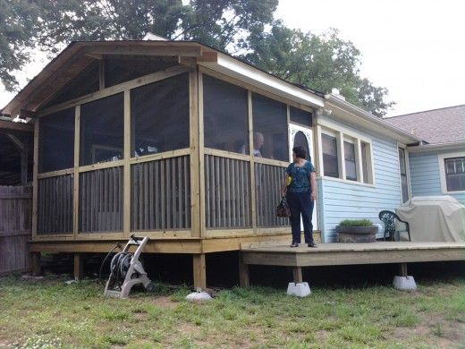 Building a screened in porch for How to build a front porch on a mobile home
