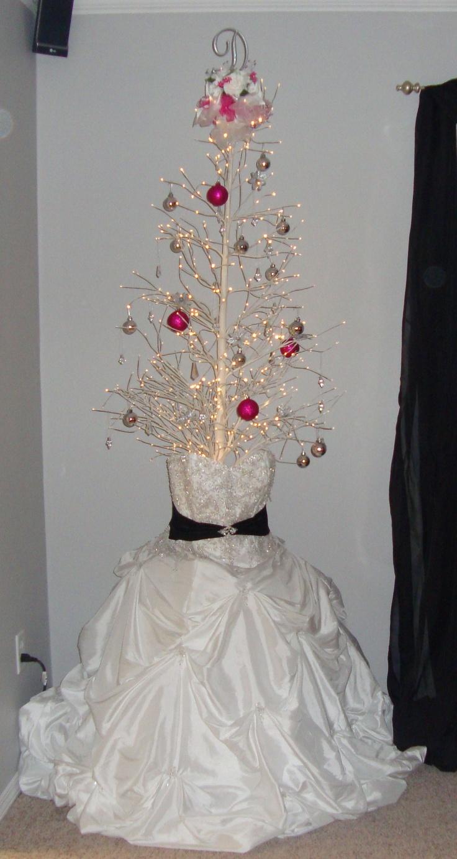 Wedding dress after the wedding make a wedding dress christmas tree