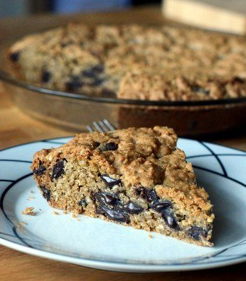 Oatmeal Chocolate Chunk Cookie Pie | Recipes | Pinterest