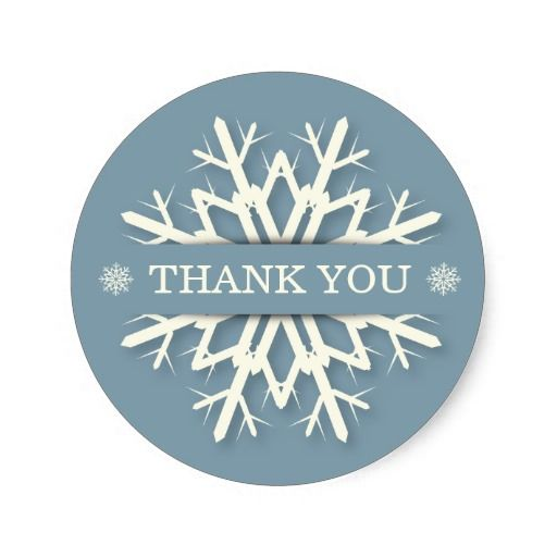 Messages available christmas thankyou sticker envelopeseal blue