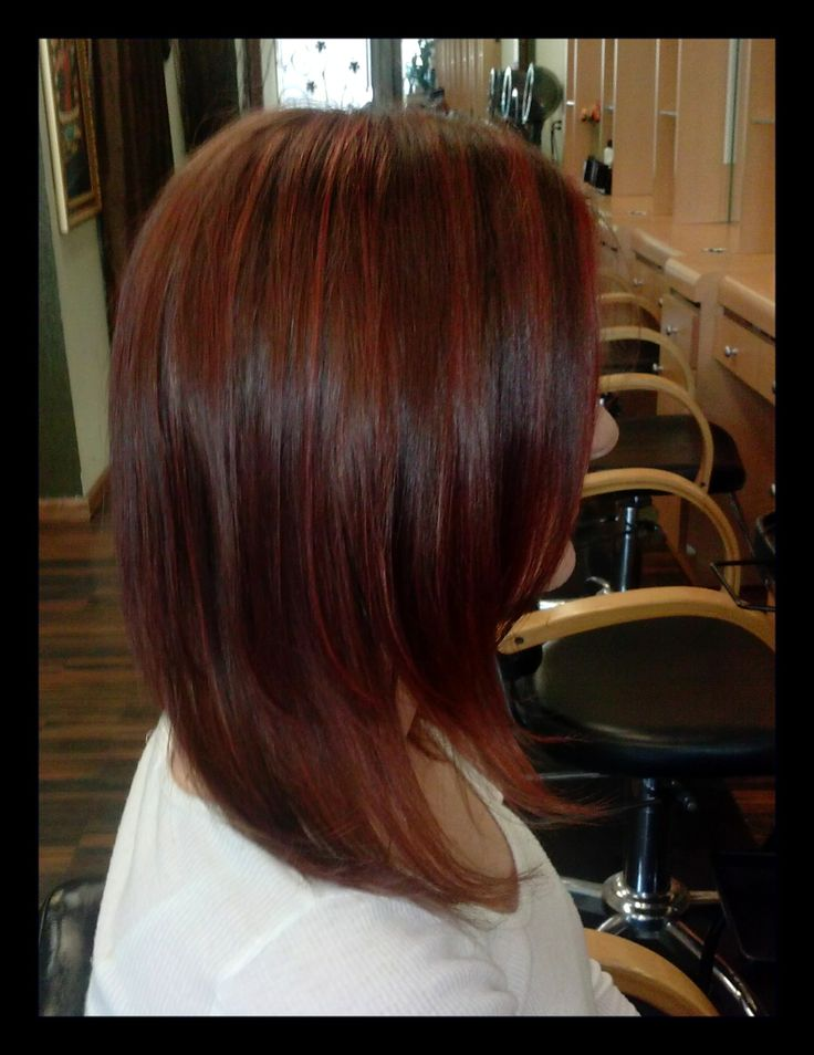 Auburn hair with red highlights. Possible hair color for sister's ...