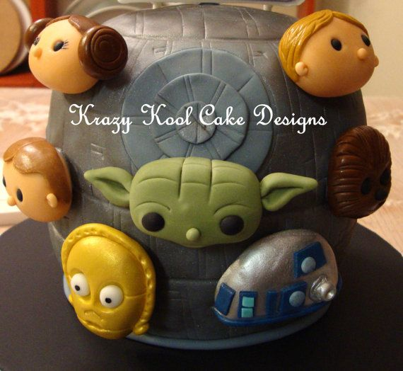 Star Wars Cake Toppers by KrazyKoolCakeDesigns on Etsy, $45.00