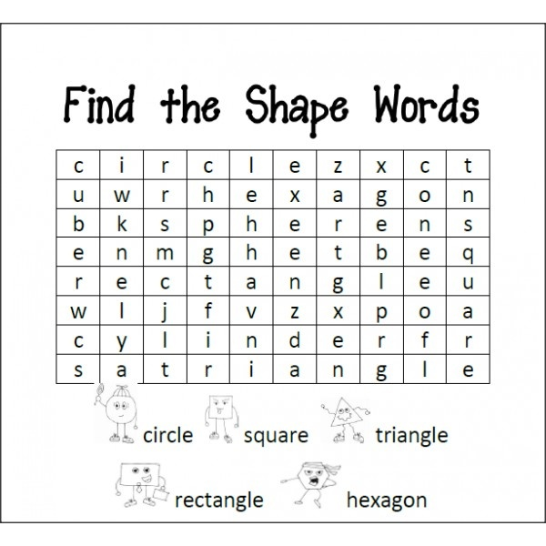 Color and Shape Word Search : colors and shapes : Pinterest