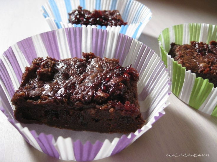 Chocolate Blackberry Brownies via Kat Cooks Bakes Eats: With Subtle ...