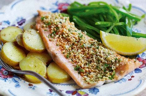 Trout fillets with a hazelnut crust - Tesco Real Food