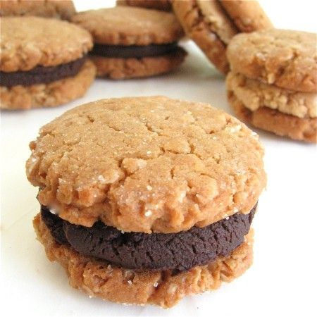 Peanut Butter-Oatmeal Sandwich Cookies: step-by-step directions and ...