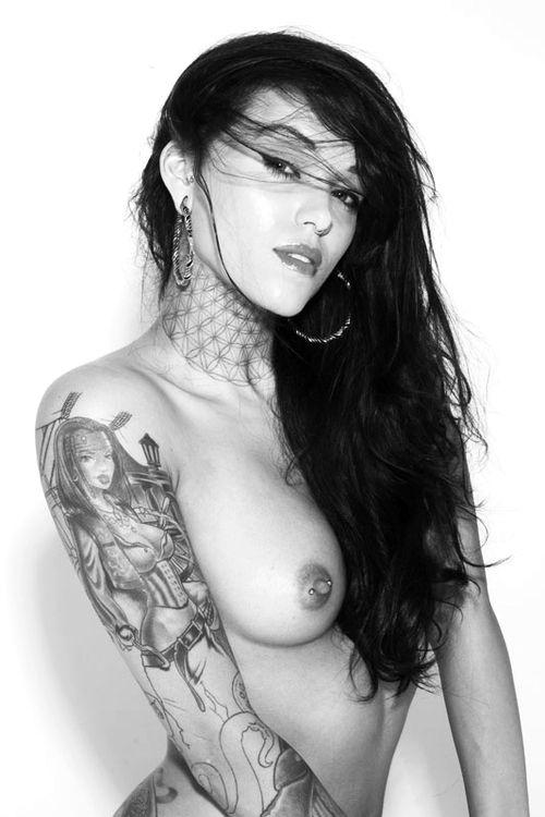 Babes tattooed rude nude