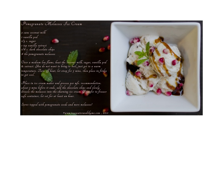 ... webstie but can read recipe on pin--Pomegranate Molasses Ice Cream