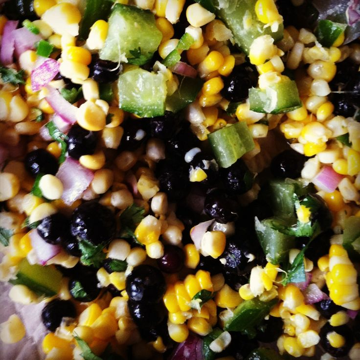 Blueberry and Corn Salad | new foods to try | Pinterest
