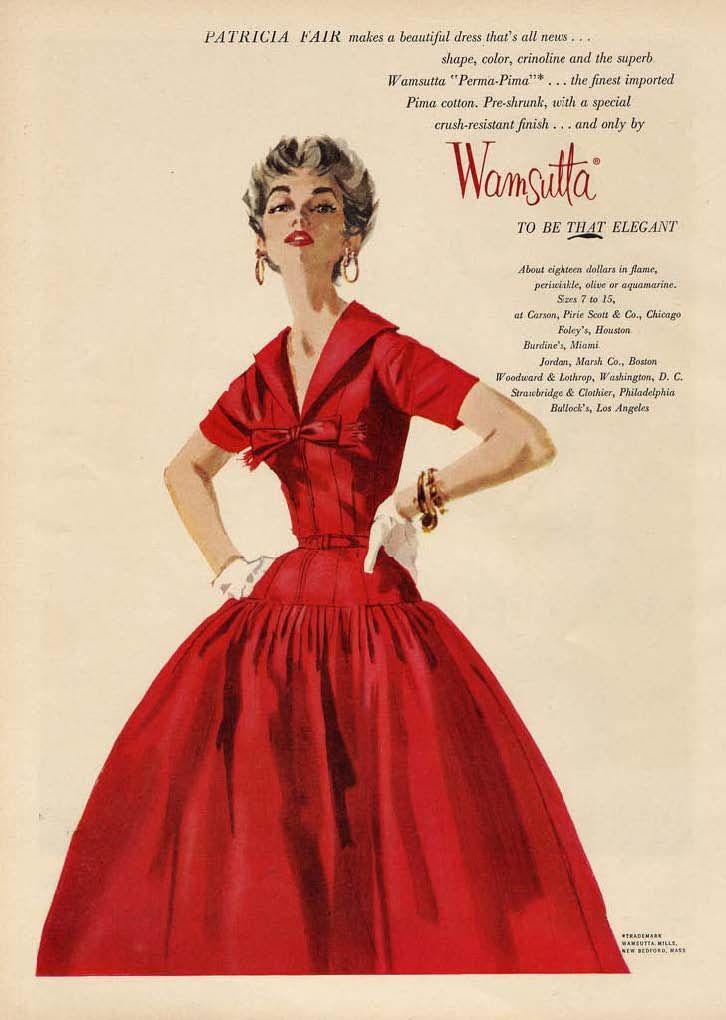 Unknown designer 1950s fashion pinterest