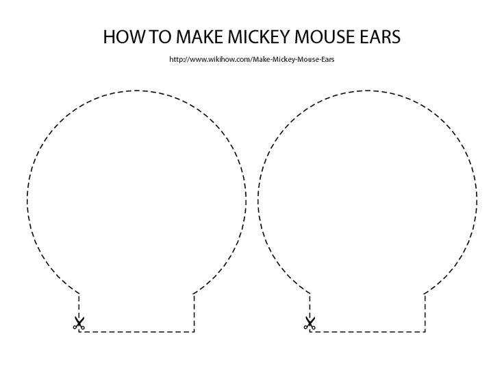 Как сделать ушки у микки мауса своими