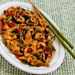 Stir Fried Turkey (or chicken) with Sugar Snap Peas and Peppers (and ...