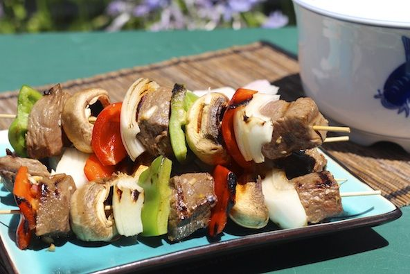 Asian Steak Kabobs Recipe via The Sweet & Sour Chronicles >> # ...