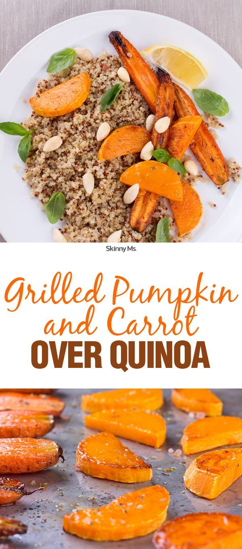 Grilled Pumpkin and Carrots over Quinoa
