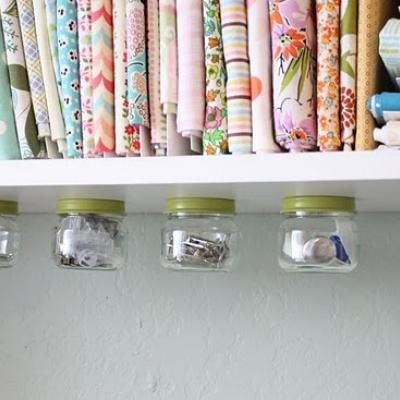 Cool, hanging storage jars.