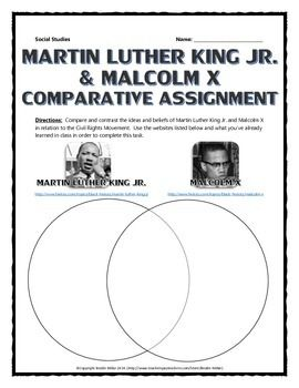 an introduction to the comparison of martin luther king jr and malcolm x A comparison of martin luther king and malcolm x in introduction in early 2008 represented by martin luther king, jr.