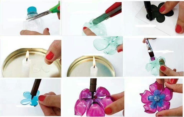 Plastic Bottle Flower Bottle Craft Pinterest