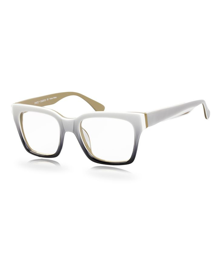 Eyeglass Frames Turning White : Gray & White Florence Eyeglasses