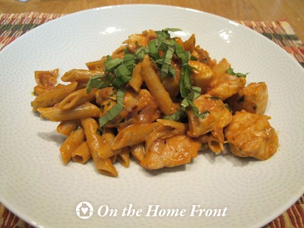 Recipe Box: Penne and Chicken with Vodka Sauce | Prudent Living – On ...