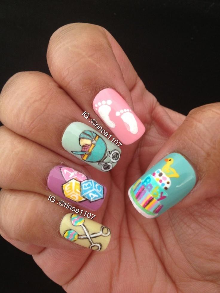 baby shower nails nail designs pinterest