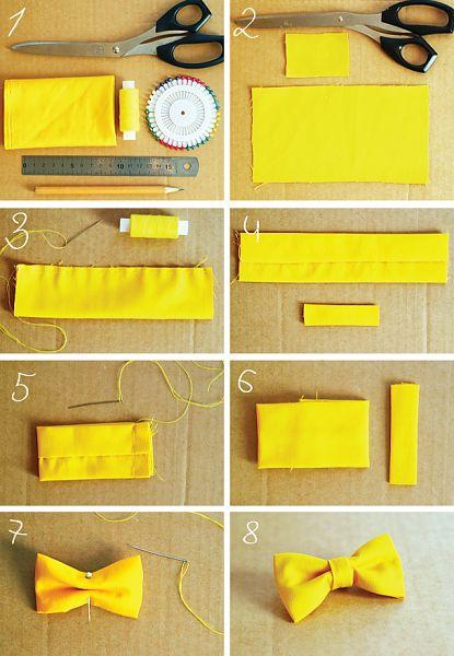 Bow Tie handmade/Cravate papillon maison/Галстук бабочка своими руками копилка идей Pinterest Papillons, Fiyonklar ve Kravatlar
