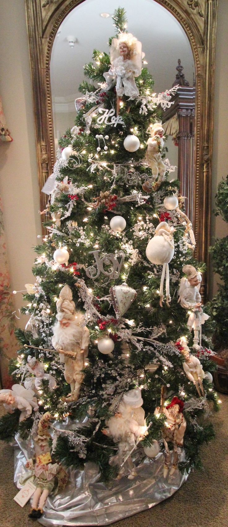 angel decorated christmas tree