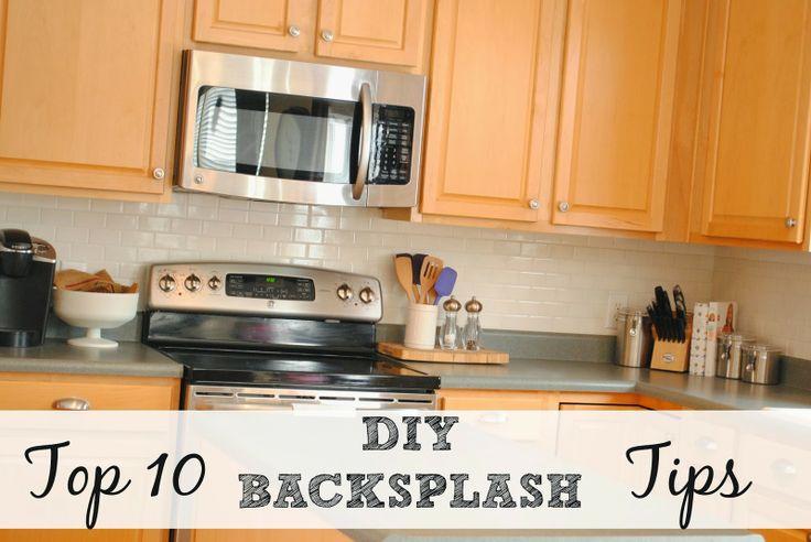 diy subway tile backsplash tips chicken scratch blog pinterest