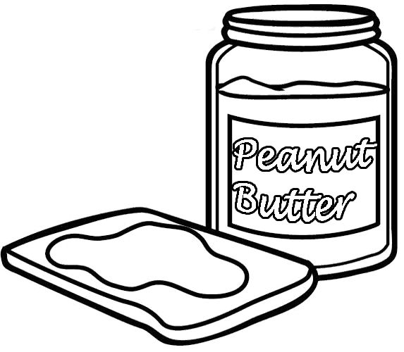 peanut butter coloring pages