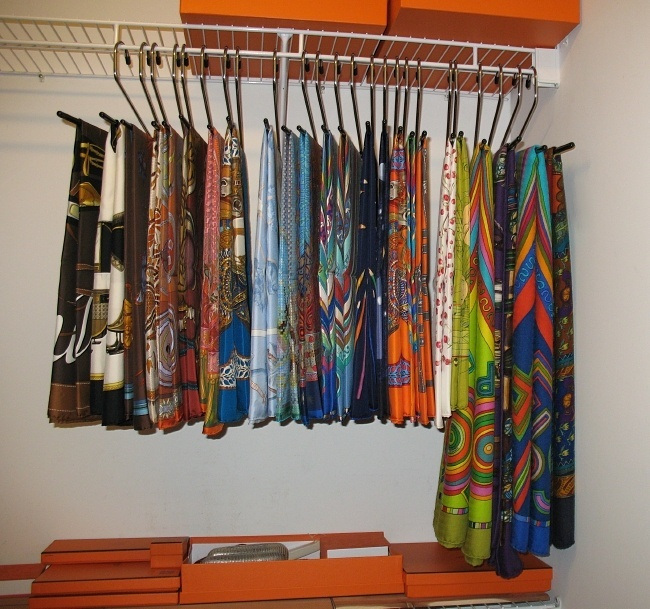 scarf storage ideas organization
