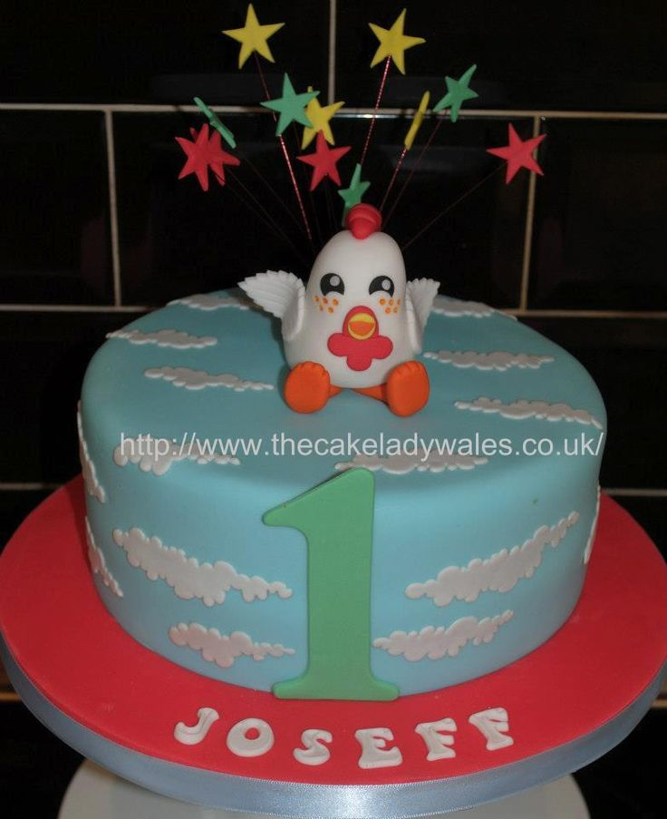 Chicken Birthday Cake  Childrens Cakes from the Cake Lady  Pintere ...